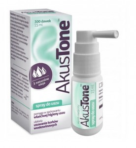 Akustone spray zatkane uszy 15 ml