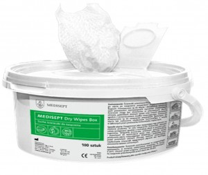 Medisept Dry Wipes Box suche ścierki do nasączania